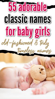 55 Old-Fashioned, Vintage Girl Names - baby girl names that are truly timeless. Give your baby a name with feminine strength that has already stood the test of time and bypassed all the trends.