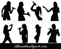 Girls Singing Silhouette Clip art Pack Download Music Silhouette, Woman Silhouette, Silhouette Vector, Woman Singing, Karaoke, Vector Graphics, Vector Design, Silhouettes, Baby Blue