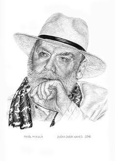Pavol Mikulík, portrét Dušan Dudo Hanes