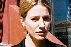 ANNIKA DOWN EARRINGS, BRASS/SODALITE