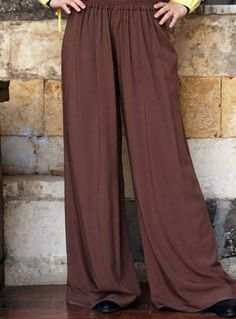 Gathered Front Flared Trousers