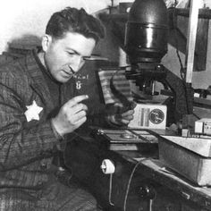 Lodz, Poland, the photographer Mendel Grossman in his laboratory in the ghetto. Grossman was deported to a labor camp in Koenigs Wusterhausen and stayed there until 16 April 1945. Ill and exhausted, he was shot by Nazis during a forced death march, still holding on to his camera.  #worldphotographyday