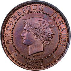 Humor 1895 Haiti 20 Centimes Km 45 Silver Coin North & Central America
