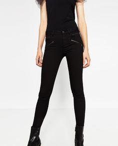 Image 4 of SKINNY SIX ZIP TROUSERS from Zara