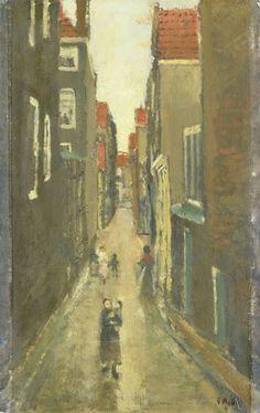 Buurtje in de Amsterdamse Jordaan (George Hendrik Breitner, 1880 - 1923, Rijksmuseum, Amsterdam)