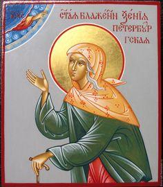 Купить икона святая КСЕНИЯ ПЕТЕРБУРГСКАЯ - икона, икона в подарок, Икона ручной работы
