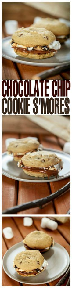 Gooey marshmallow and creamy chocolate sandwiched between two chewy chocolate chip cookies. /search/?q=%23cookie&rs=hashtag /search/?q=%23smore&rs=hashtag