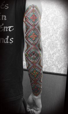 Ukrainian-style tattoo.