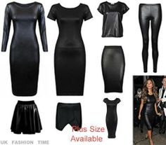 New Womens Ladies Celebs Bodycon Shiney Wetlook Patches PU Shortmini Dress 8-14
