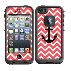 Skins FOR Lifeproof iPhone 5 Case  Pink / Orange neon by ItsASkin, $9.95