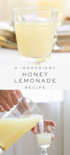 A 60-second honey lemonade recipe that's naturally refined sugar-free and made with just 2 ingredients! A perfect easy lemonade recipe for hot summer days. Sugar Free Lemonade Recipe, Easy Strawberry Lemonade Recipe, Peach Lemonade Recipes, Honey Lemonade, Healthy Lemonade, Homemade Lemonade Recipes, Frozen Lemonade, Easy Drink Recipes, Honey Recipes