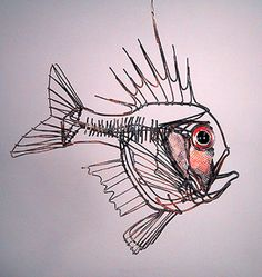 Thomas Hill wire sculpture - Roughie Fish