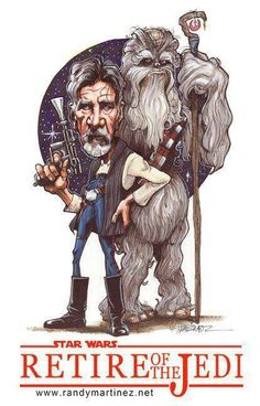Star Wars 7 Retire of the Jedi, Han Solo and Chewbacca 9 X 12 Marker on Bristol Star Wars Episoden, Star Wars Humor, Geeks, Starwars, Film Science Fiction, Han Solo And Chewbacca, Star Wars Personajes, Star Wars Poster, Love Stars