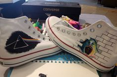 077c9161d04e Custom Pink Floyd music themed art work on Converse Painted Clothes