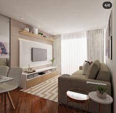 Small Apartment Interior, Home Living Room, Interior Design Living Room, Living Room Tv Unit Designs, Condo Design, Small Living Rooms, Small Apartments, Cozy House, Home Decor Inspiration