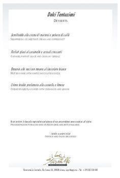 A la carte - desserts Romantic Dinners, Creme Brulee, Desserts, Cards, Tailgate Desserts, Dessert, Deserts, Food Deserts, Postres