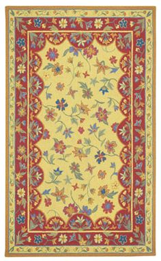 Brighten up your kitchen with the Provencal rug in Gold Red from #CapelRugs