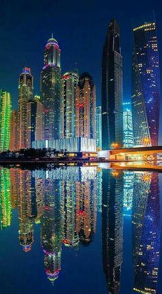 Dubai , A City of Jewels, reflection of those whom live here. Dubai City, Futuristic Architecture, Amazing Architecture, Urban Photography, Travel Photography, Cityscape Photography, City Aesthetic, City Wallpaper, Amazing Buildings