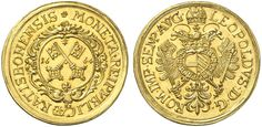 German States/Regensburg/Imperial City AV 5 Dukaten 1664 Leopold I Holy Roman Emperor 1663-1705