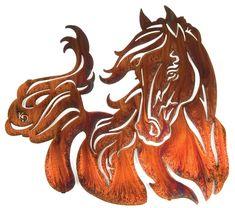 Graceful Horse Wall Art  Rustic Decor  www.rusticeditions.com