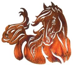 Graceful Horse Wall Art  Rustic Decor  www.rusticeditions.com