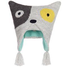 Catimini - Baby Boys Grey Cotton Knitted 'Fox' Hat   Childrensalon
