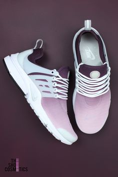 7ecd61cf2a3f Cute women s Custom Nike sneakers. TheShoeCosmetics Maroon ombre girly Nike  Air Presto are a stylish