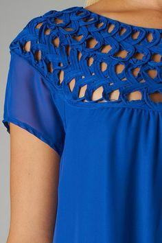 Cobalt Cap Sleeve Dress (details)