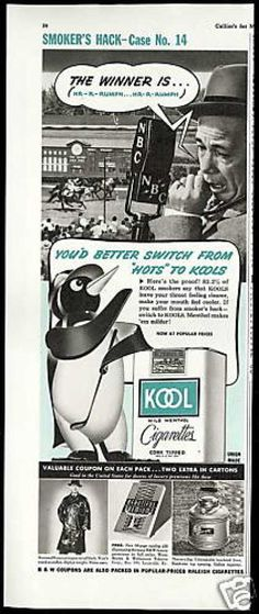 Kool Cigarettes NBC Horse Race Jockey (1942)