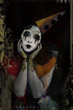Not my circus, not my clowns. Le Clown, Clown Faces, Circus Clown, Creepy Clown, Scary, Pierrot, Circus Makeup, Crazy Wallpaper, Clown Paintings