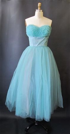 1950's Vintage Prom Dress -- One more to add to my current obsession with 50's style vintage party dresses.
