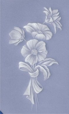 Parchment Craft Guild Associate Exam - Whitework Vellum Crafts, Parchment Design, Brush Embroidery, Parchment Cards, Glass Engraving, Floral Drawing, Card Patterns, Paper Cards, Flower Cards