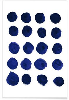 Blue Dots as Premium Poster