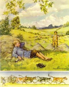Little Boy Blue by Margaret W. Tarrant (1888-1959) English illustrator specializing in depictions of fairy-like children and religious subjects.