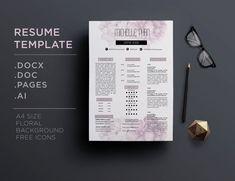 17 Best Chic Modern Resume Cv Templates Images Cv