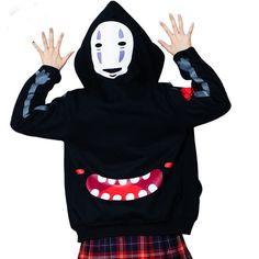 Spirited Away Punk Gothic Japanese Harajuku Sweatshirt Hoodie