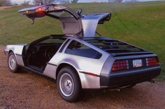 """Auction House:Barrett-Jackson Great Scott! Here's one that will take you """"Back to the Future"""" at 88 mph. This 1981 DeLorean DMC-12 features a stainless steel body and gullwing doors, DeLoreans (only about 8,000 were made between 1981-1983) can command anywhere from $20,000 - $35,000, in """"very good"""" and above condition. This one has no minimum selling price."""