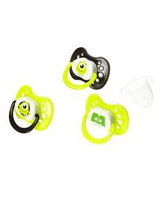 great find on Green Monsters Inc. Pacifier - Set of Three by Disney Baby Monsters Inc Nursery, Monsters Inc Baby Shower, Disney Babys, Baby Disney, Monster Baby Rooms, Little Babies, Baby Kids, Disney Baby Clothes, Gender Neutral Baby Clothes