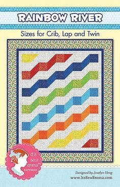 Rainbow River Quilt Pattern It's Sew Emma, Jocelyn Ueng #ISE-143