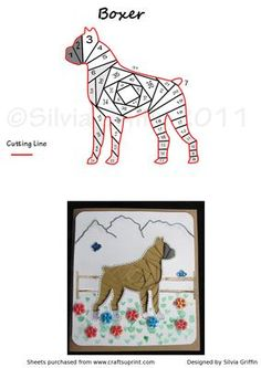 Boxer Dog on Craftsuprint designed by Silvia Griffin - Such a beautiful dog - hope you have some friends and family who would love to have this card. - Now available for download!