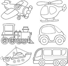 Check the ultimate selection of printable coloring pages of animals, dinosaurs, fruit, books or Lego. Print quality coloring sheets for free. Colouring Pages, Coloring Sheets, Coloring Books, Transportation Theme, Drawing For Kids, Printable Coloring, Coloring Pages For Kids, Felt Crafts, Easy Drawings
