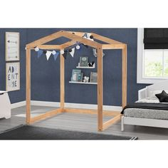 Delta Children Homestead Playhouse - Natural : Target Wood Playhouse, Kitchen Space Savers, Delta Children, Multiplication For Kids, Newborn Baby Photography, Cozy Bed, Kid Spaces, Wood Construction, Play Houses