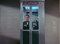 Phone Booth--either as prop or as decoration for the door