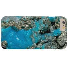Natural Turquoise Stone Barely There iPhone 6 Plus Case  #jeweled #luxury #option