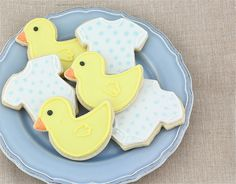 """Peggy Porschen """"It's A Boy"""" Sugar Cookies.  Congratulations to Prince William and Kate on the birth of their new baby boy!"""