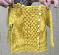 Ravelry: Project Gallery for garter yoke baby cardi pattern by Jennifer Hoel Knitting For Kids, Baby Knitting Patterns, Crochet For Kids, Knitting Stitches, Knit Crochet, Sewing Baby Clothes, Knitted Baby Clothes, Baby Sewing, Baby Pullover