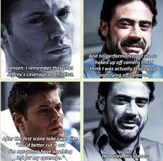 [GIFSET] Jensen's commentary on JDM's performance in 2x01 In My Time Of Dying