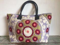Suzani Carry-all handbag  Blossom Springtime by SummerHouseNZ