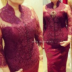 Traditional Gowns, Traditional Clothes, Vera Kebaya, Cute Dresses, Beautiful Dresses, Indonesian Kebaya, Modern Kebaya, Kebaya Muslim, Designer Dresses