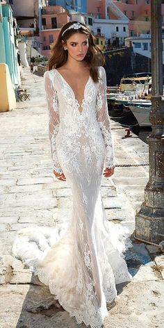 Collections From Top Wedding Dress Designers ❤ See more: http://www.weddingforward.com/wedding-dress-designers/ #weddings